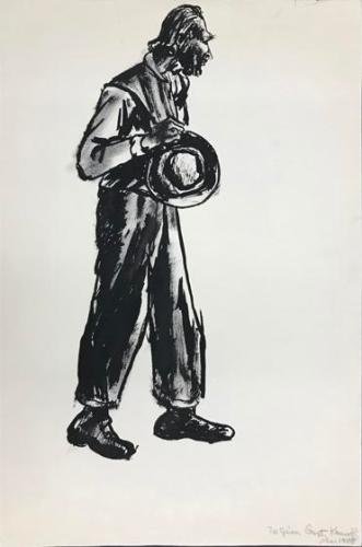 Untitled (man holding hat)