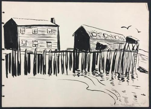 Untitled (houses and pier)