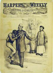 The Civilization of Blaine (from Harper's Weekly March 8, 1879)