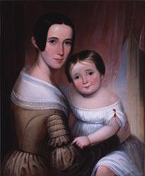 Portrait of Mary Hattaway Curry and her son, John