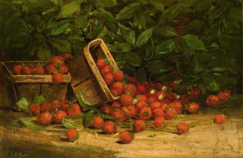 Still Life: Two Baskets of Strawberries