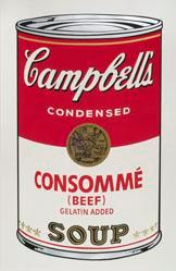 Consomme (Beef) Gelatin Added Soup, from the Campbell's Soup I Portfolio