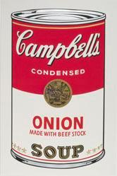 Onion Made with Beef Stock Soup, from the Campbell's Soup I Portfolio