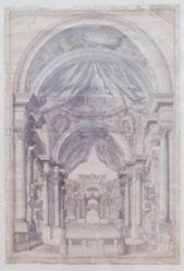 Study for an arcaded architectural interior
