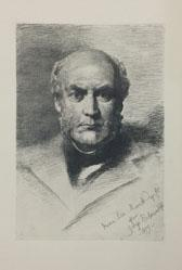 Portrait of Sir Gilbert Scott after a painting by George Richmond