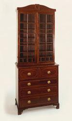 Secretary and bookcase