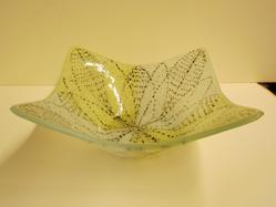 Large Square Bowl (Yellow And White)