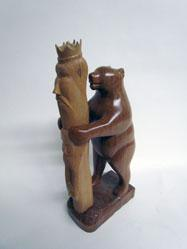 Bear with Totem Pole