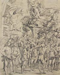 Drawing After The Signorelli Fresco in Orvieto
