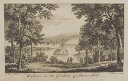Pains Hill Gardens, after Samuel Wade, from London and its Environs (published by R&J Dodsley)