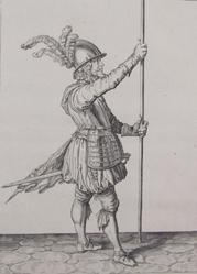 Pikeman (Soldier) Practicing Drill from The Exercise of Arms