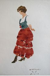 Untitled (standing woman in red skirt)