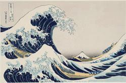 Under the Wave off Kanagawa or The Great Wave, from Thirty-six Views of Mt. Fuji