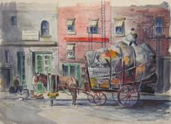 Untitled (Horse And Cart In Town Scene)