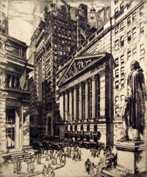 Broadway And Wall AKA Broad and Wall (N.Y. Stock Exchange)