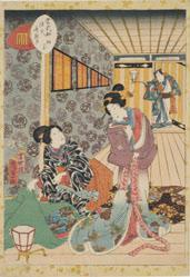 The Paulownia Pavilion (Kiritsubo), from Tales of Genji