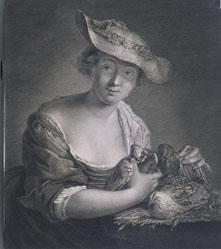 Portrait of Lady with Doves