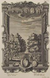 Garden Of Walnut Trees, From Physica Sacra By Johannes Jacob Scheuchzer