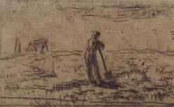 Small Digger Resting (Fragment From Plate With Three Subjects, Delteil  2)