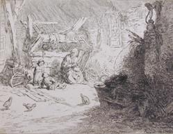 French Peasant Family In A Barn