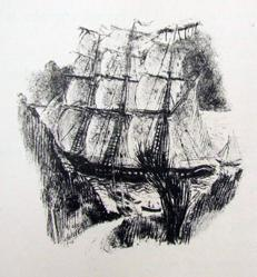"Ship Scene-Illustration From ""Thompson's Poems"""