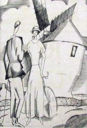 Man And Woman By A Windmill