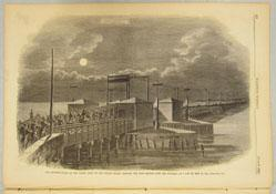 The Advance Guard of the Grand Army of the United States Crossing the Long Bridge over the Potomac at 2 a.m. on May 24, 1861 (from Harper's Weekly June 8, 1861)