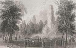 The Park Fountain, N.Y., From The Romance Of American Landscape