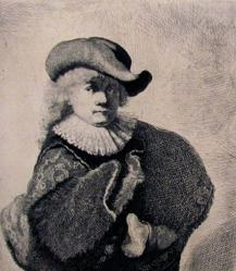 Rembrandt In Soft Hat And Embroidered Cloak