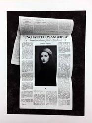 Enchanted Wanderer, Excerpt from A Journey Album for Hedy Lamarr, Joseph Cornell, background portrait by Giorgione ca. 1500, View Magazine, December 1941 (from the Artist to Artist series)