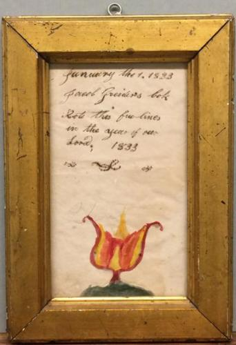 Fraktur-style painting