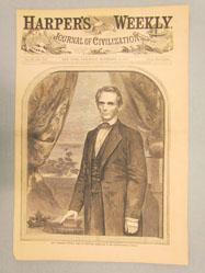 Hon. Abraham Lincoln, Born in Kentucky, February 12, 1809.--[Photographed by Brady.] (from Harper's Weekly November 10, 1860)