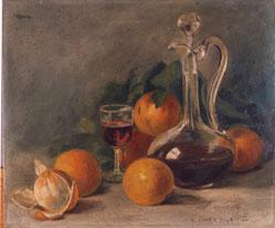 Still Life (Fruit and Wine)