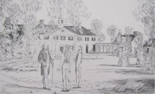 Bowling on the Green (From the Life of George Washington)