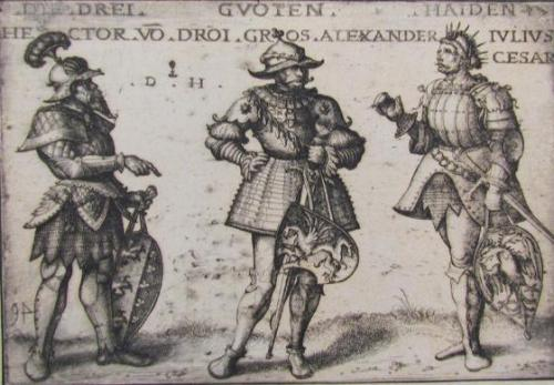 The Three Good Pagans: Hector of Troy, Alexander the Great, and Julius Caesar (After Hans Burgkmair)