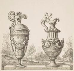 Two Vases, after Polidoro Caldara da Caravaggio and Giovanni Lanfranco