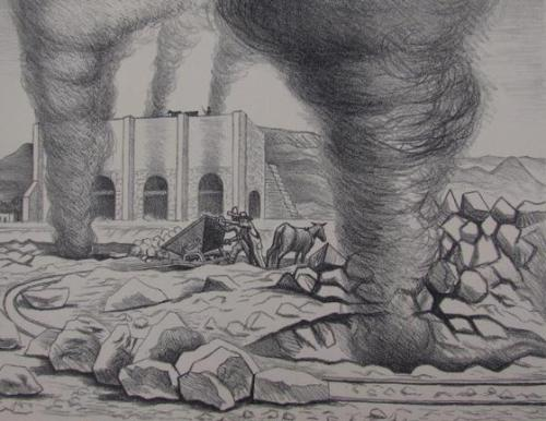 Lime Kilns (from Mexican Art, A Portfolio Of Mexican People And Places)