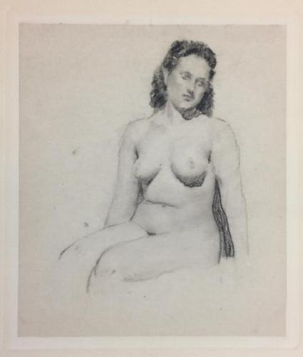 Seated Brunette Nude