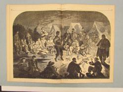 A Bivouac Fire on the Potomac (from Harper's Weekly, December 21, 1861)