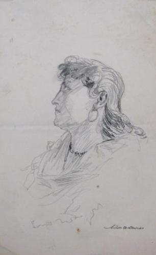 Sketch Of Lady With Earring