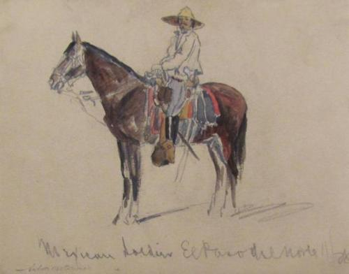 Mexican Soldier/Verso: Sketches Of Men