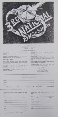 Call for entries 3rd National Ring Show