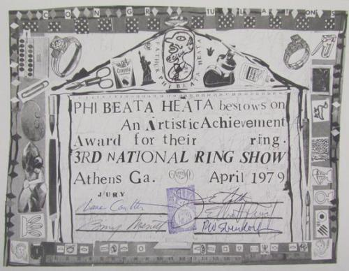 Artistic Achievement Award for 3rd National Ring Show