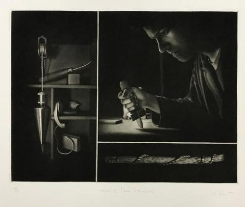 Settling II (Homage to the Mezzotint)