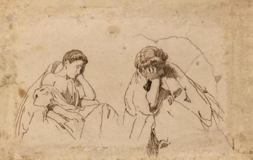 Two studies of a sleeping woman