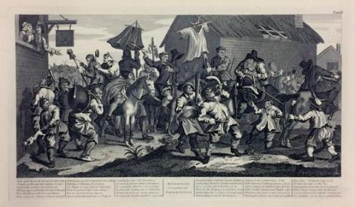 Hudibras Encounters the Skimmington, Plate 7 from Illustrations to Samuel Barber's Hudibras