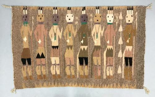 Rug with Yei figures