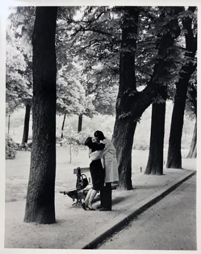 Paris (Couple Kissing by Trees)