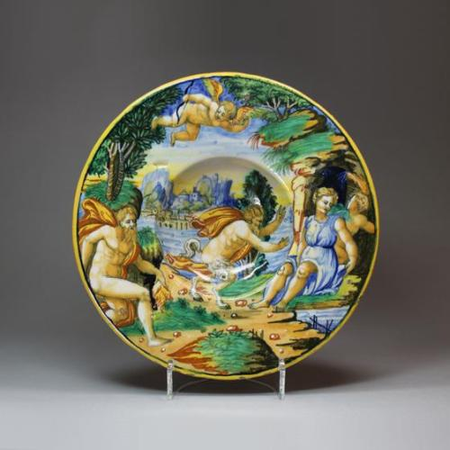 Dish with Jupiter Surprising Antiope