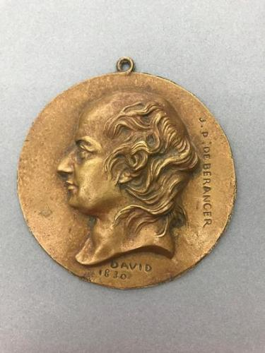Portrait medallion of Pierre-jean de Béranger